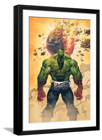 Incredible Hulk No.1 Cover: Hulk Standing-Marc Silvestri-Framed Art Print