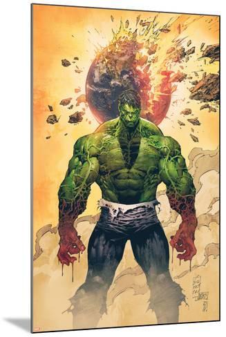 Incredible Hulk No.1 Cover: Hulk Standing-Marc Silvestri-Mounted Poster