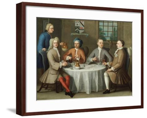 A Group Portrait of Sir Thomas Sebright, Sir John Bland and Two Friends, 1723-Benjamin Ferrers-Framed Art Print
