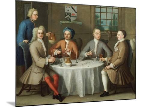 A Group Portrait of Sir Thomas Sebright, Sir John Bland and Two Friends, 1723-Benjamin Ferrers-Mounted Giclee Print