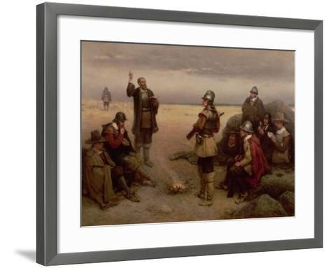 The Landing of the Pilgrim Fathers, 1620-George Henry Boughton-Framed Art Print