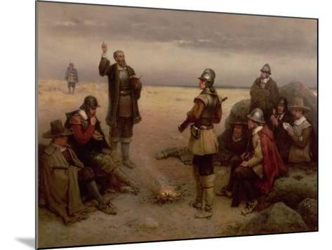 The Landing of the Pilgrim Fathers, 1620-George Henry Boughton-Mounted Giclee Print