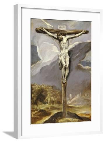 Christ on the Cross-El Greco-Framed Art Print