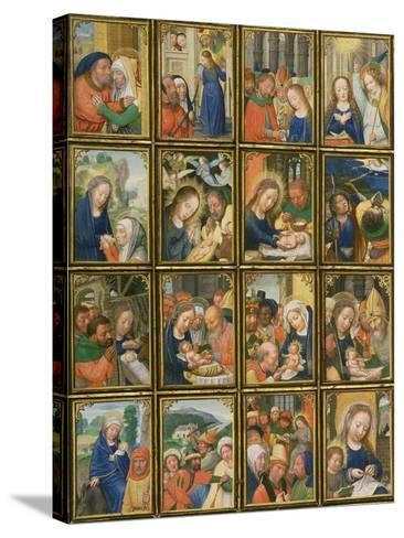 Life of the Virgin, from the 'Stein Quadriptych'-Simon Bening-Stretched Canvas Print