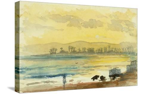 Sunrise Near Haifa, 1872-Claude Conder-Stretched Canvas Print