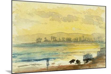 Sunrise Near Haifa, 1872-Claude Conder-Mounted Giclee Print