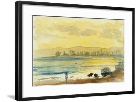 Sunrise Near Haifa, 1872-Claude Conder-Framed Art Print
