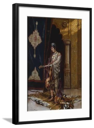 An Odalisque-Rudolphe Ernst-Framed Art Print