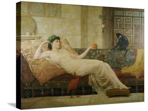 A Dream of Paradise, 1889-Frederick Goodall-Stretched Canvas Print