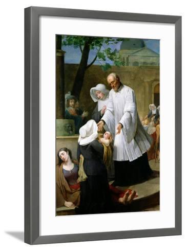 St. Vincent De Paul Helping the Plague-Ridden-Antoine Ansiaux-Framed Art Print