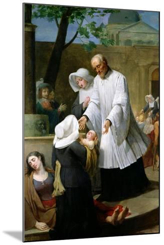 St. Vincent De Paul Helping the Plague-Ridden-Antoine Ansiaux-Mounted Giclee Print