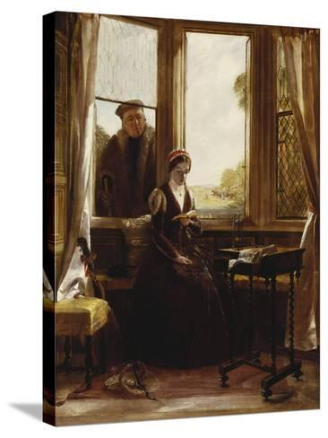 Lady Jane Grey and Roger Ascham, 1853-John Callcott Horsley-Stretched Canvas Print