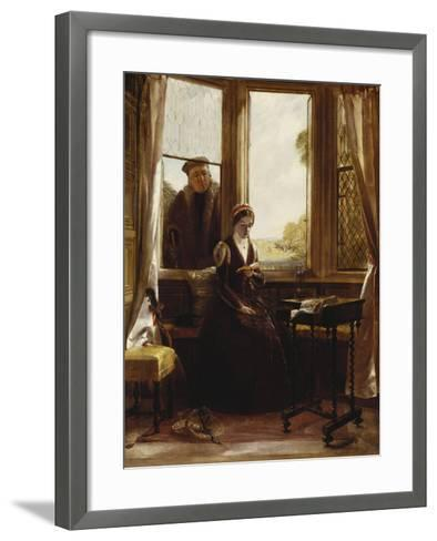 Lady Jane Grey and Roger Ascham, 1853-John Callcott Horsley-Framed Art Print