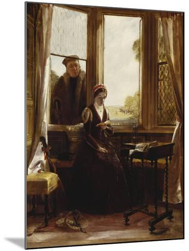 Lady Jane Grey and Roger Ascham, 1853-John Callcott Horsley-Mounted Giclee Print