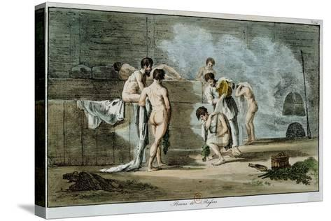 Russian Men in a Sauna, from 'Moeurs Et Coutumes Russes', 1821-Armand Gustave Houbigant-Stretched Canvas Print
