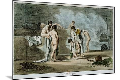 Russian Men in a Sauna, from 'Moeurs Et Coutumes Russes', 1821-Armand Gustave Houbigant-Mounted Giclee Print