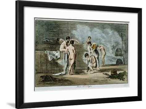 Russian Men in a Sauna, from 'Moeurs Et Coutumes Russes', 1821-Armand Gustave Houbigant-Framed Art Print