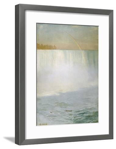 Waterfall and Rainbow, Niagara-Albert Bierstadt-Framed Art Print