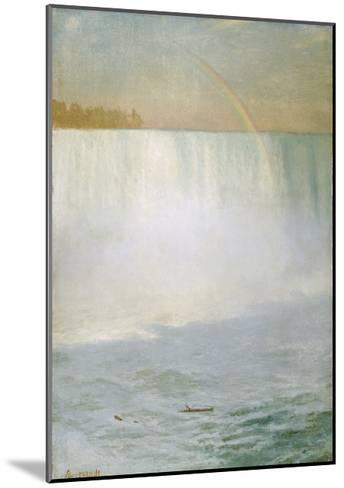 Waterfall and Rainbow, Niagara-Albert Bierstadt-Mounted Giclee Print
