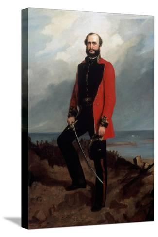 Major-General Charles Ashe Windham (1810-70) Coldstream Guards-Charles Couzens-Stretched Canvas Print