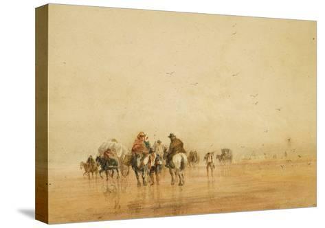 Crossing Lancaster Sands, 1836-David Cox-Stretched Canvas Print
