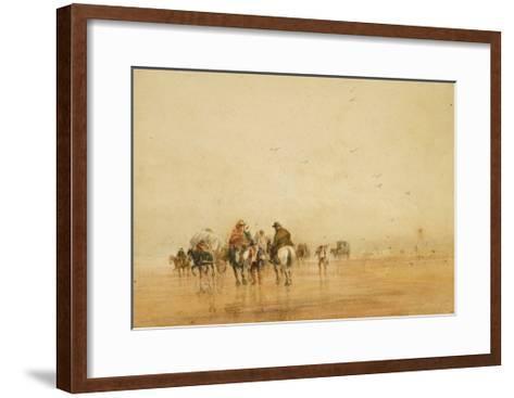 Crossing Lancaster Sands, 1836-David Cox-Framed Art Print