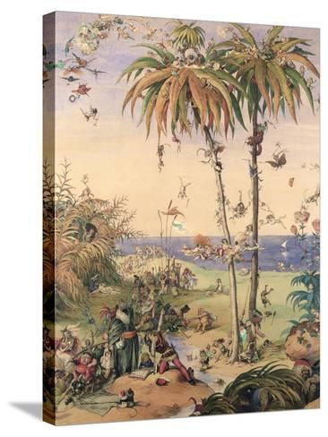 The Enchanted Tree, a Fantasy Based on 'The Tempest', 1845-Richard Doyle-Stretched Canvas Print