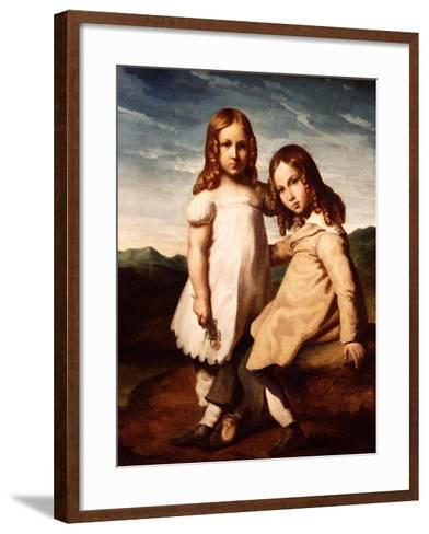 Alfred Dedreux (1810-60) as a Child with His Sister, Elisabeth, 1816-17-Theodore Gericault-Framed Art Print