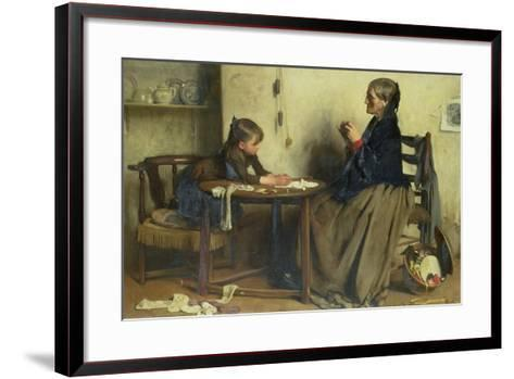 A Difficulty-Arthur Hacker-Framed Art Print