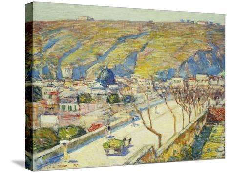 Bridge at Posilippo, Naples, 1889-Childe Hassam-Stretched Canvas Print