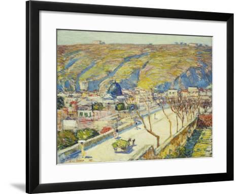 Bridge at Posilippo, Naples, 1889-Childe Hassam-Framed Art Print