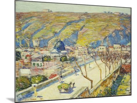 Bridge at Posilippo, Naples, 1889-Childe Hassam-Mounted Giclee Print