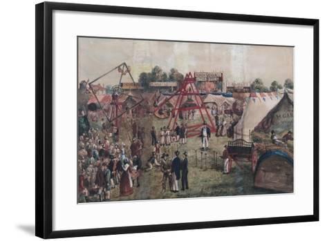 Croydon Fair, 1833-George Hawkins-Framed Art Print