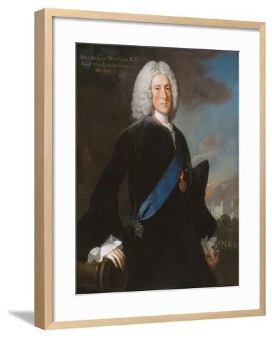 General John, 2nd Duke of Montagu (C.1688-1749) Master General of the Ordnance, C.1740-George Knapton-Framed Art Print