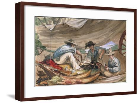 Choice Bits from an Elephant - the Feet and Trunk, 1862-Thomas Baines-Framed Art Print