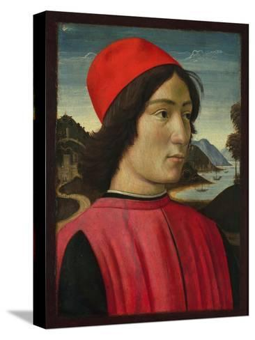 Portrait of a Man, C.1490-Domenico Ghirlandaio-Stretched Canvas Print