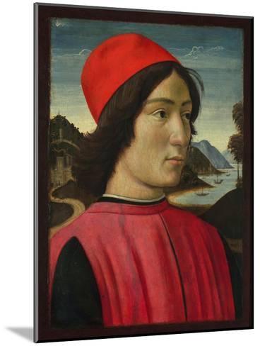 Portrait of a Man, C.1490-Domenico Ghirlandaio-Mounted Giclee Print