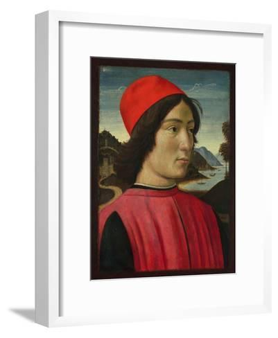 Portrait of a Man, C.1490-Domenico Ghirlandaio-Framed Art Print