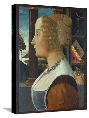 Portrait of a Woman, C.1490-Domenico Ghirlandaio-Stretched Canvas Print