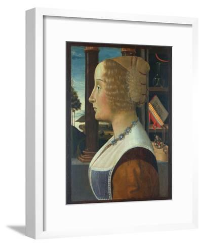 Portrait of a Woman, C.1490-Domenico Ghirlandaio-Framed Art Print