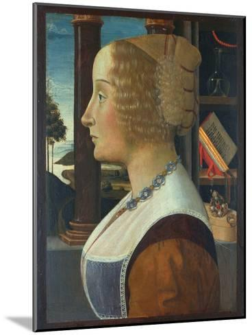 Portrait of a Woman, C.1490-Domenico Ghirlandaio-Mounted Giclee Print