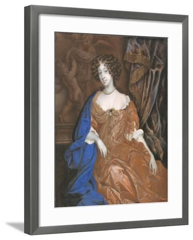 Mary of Modena as Duchess of York-Richard Gibson-Framed Art Print
