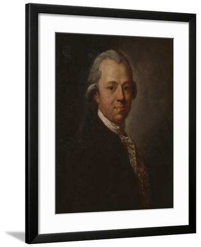 Portrait of German Writer and Publisher Christoph Friedrich Nicolai, 1783-Anton Graff-Framed Art Print