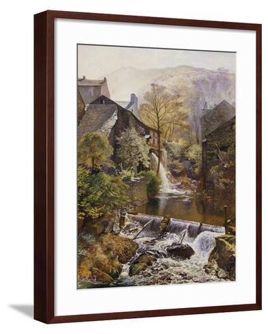 The Old Water Mill-James Duffield Harding-Framed Art Print