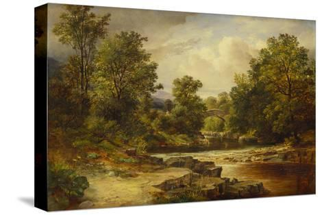 Langdale Pikes, Westmorland-George Vicat Cole-Stretched Canvas Print
