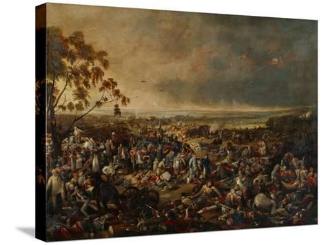 After the Battle of Waterloo, on 18 June 1815, 1820-William Heath-Stretched Canvas Print