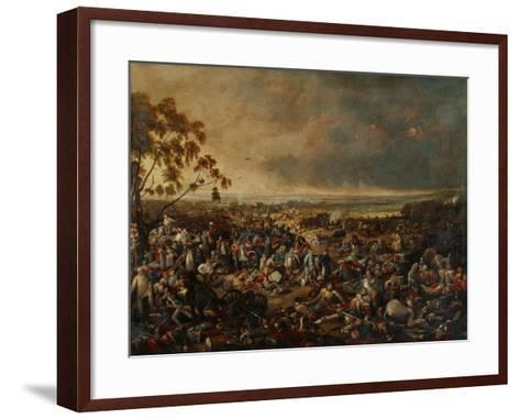 After the Battle of Waterloo, on 18 June 1815, 1820-William Heath-Framed Art Print