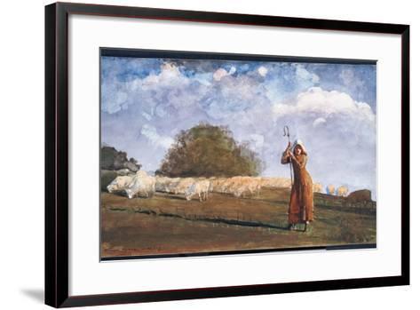 The Young Shepherdess, 1878-Winslow Homer-Framed Art Print