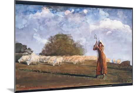 The Young Shepherdess, 1878-Winslow Homer-Mounted Giclee Print