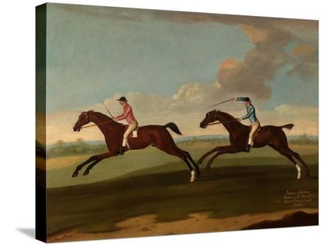 Aaron and Driver Running the Second Heat at Maidenhead, 1754-Richard Roper-Stretched Canvas Print